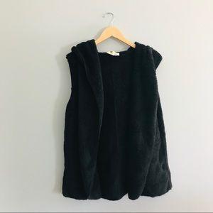Vanilla Bay Faux Fur Fuzzy Hooded Vest